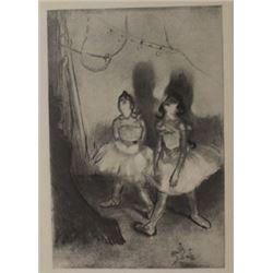 Dans Les Coulisses - lithograph-  thomas Cleland
