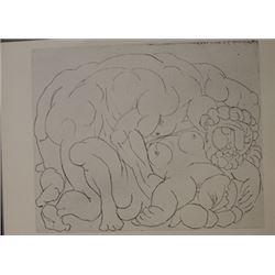 Embrace lithograph -  Picasso