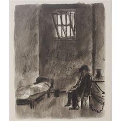 Jail house drawings - Lithograph-  lamb