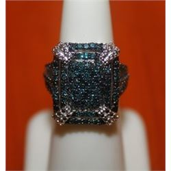 Fascinating Blue Diamond Ring