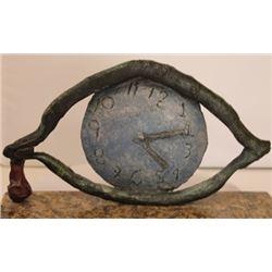 Eye of Time - Patina Bronze Sculp. - Salvador Dali