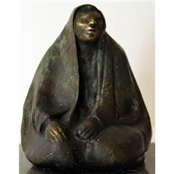 Hand Signed - Patina Bronze Sculpture