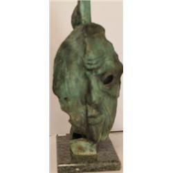 Old Age - Patina Bronze Sculp. - Salvador Dali