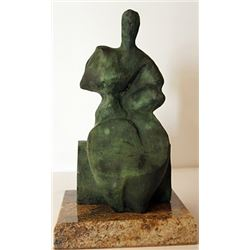 Patina Bronze Sculpture - Henry Moore