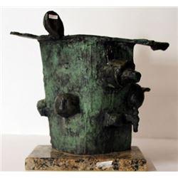 Limited Edition Patina Bronze Sculpture - Joan Miro