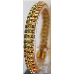 Gorgeous Russian Chrome Diopside Bracelet