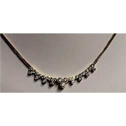 Lady's 18K Gold Diamond Necklace