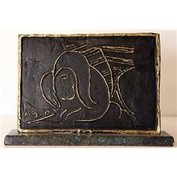 Gold over Bronze Sculpture - Pablo Picasso