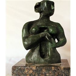 Patina Bronze Sculpture - Henry Moore
