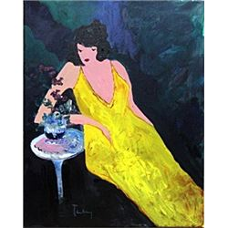 Yellow Dress - Oil on Canvas - Tarkay