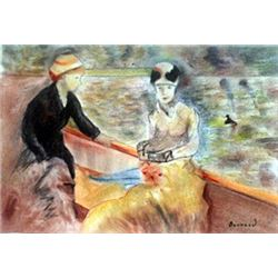 Ride on the Lake - Pastel on Paper - Pierre Bonnard