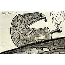 Untitled 1961' - Drawing - Philip Guston
