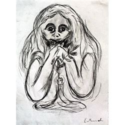 Madona - Drawing on Paper - Edvard Munch