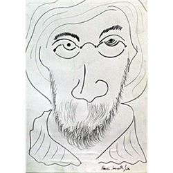 Self Portrait - Drawing on Paper - H. Matisse 40'