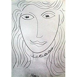 Madame - Drawing on Paper - H. Matisse