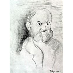 Self Portrait - Drawing on Paper - Paul Cezanne