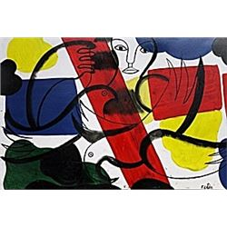 Untitled 1951' - Oil - Fernand Leger