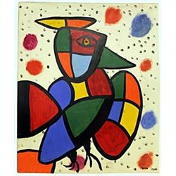 The Bird 1970' - Oil on Paper - J. Miro