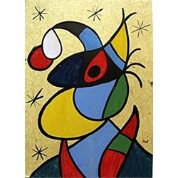 Brujacon Sombrero - Oil on Paper - Joan Miro