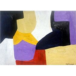 Composition II - Pastel Drawing on Paper - S. Poliakoff