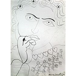 Madame II - Drawing on Paper - H. Matisse