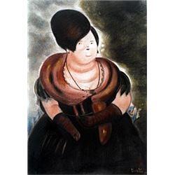 Retrato De La Infanta - Pastel Drawing - F. Botero