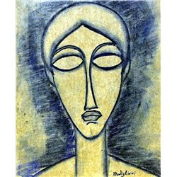Head of a Woman 1910' - Amadeo Modigliani