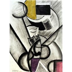 Portrait of Carlos 50' - Drawing - Gino Severini
