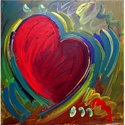 Heart - Oil on Cavnas - Peter Max