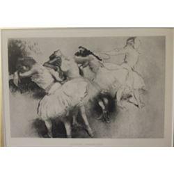 Quarte Danseuses - Lithograph  -  Unknown Arist