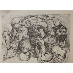 embraced - Lithograph -  Picasso