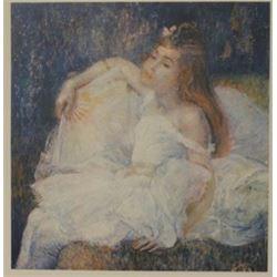 Girl in White - Lithograph -  Revior