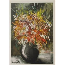China Asters Lithogrpah -  Maurice de Vlaminck