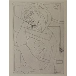 Seated Nude - Lithograph -  Picasso