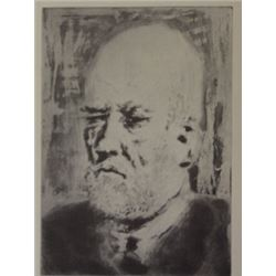 Old man - Lithograph -  picasso