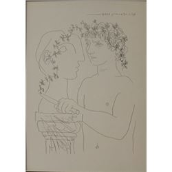 Young sculptor at work - Lithograph -  Picasso