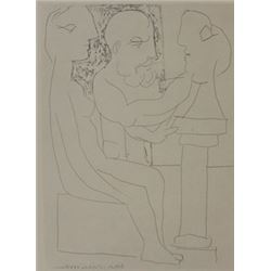 Sculptor Working from model - Lithograph  picasso