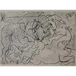 Bull Fight Two- Lithograph -  Picasso