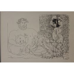 Sculptor at rest - Lithograph -  Picasso