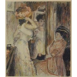 Dressing up - Lithograph -  Legrand