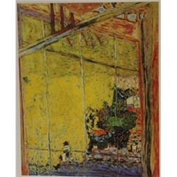 Window Pane - Lithograph -  Bonnard