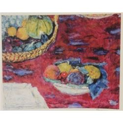 Fruit  - Signed Lithograph -  Bonnard