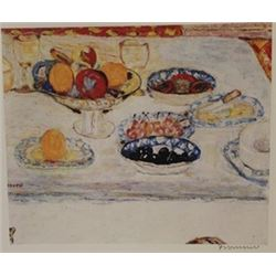 Breakfast  - Signed Lithograph -  Bonnard