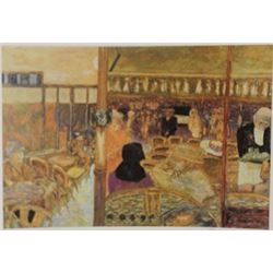 Cafe - Signed Lithograph -  Bonnard