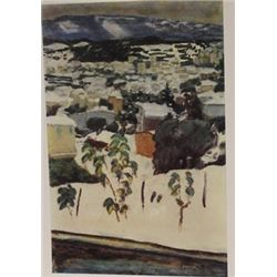 Overlooking the city  - Signed Lithograph -  Bonnard