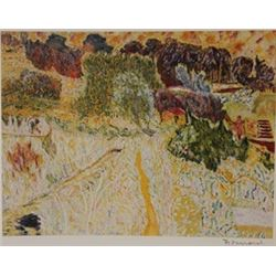 Farmland  - Signed Lithograph -  Bonnard