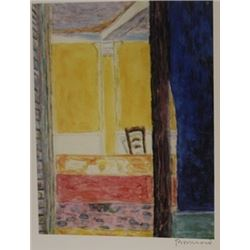 Front porch  - Signed Lithograph -  Bonnard