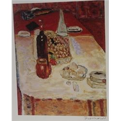 A set Table  - Signed Lithograph -  Bonnard