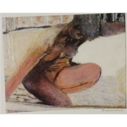 Nude Kneeling  - Signed Lithograph -  Bonnard