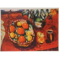 Basket of Fruit : Oranges & persimmons  - Lithograph -  Bonnard